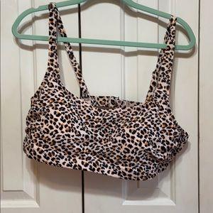 Leopard Swimsuit Top Plus Size